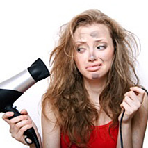 hair loss or damage caused by overstyling